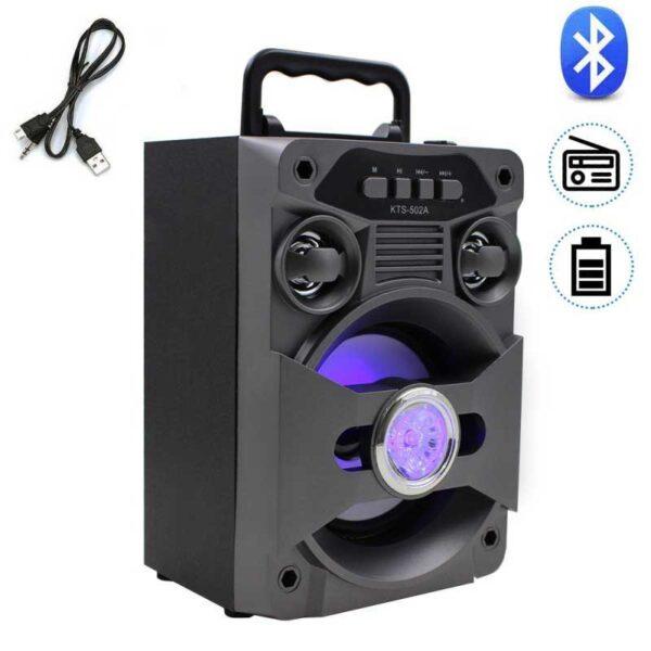 boxa portabila bluetooth ez502 card sd radio fm