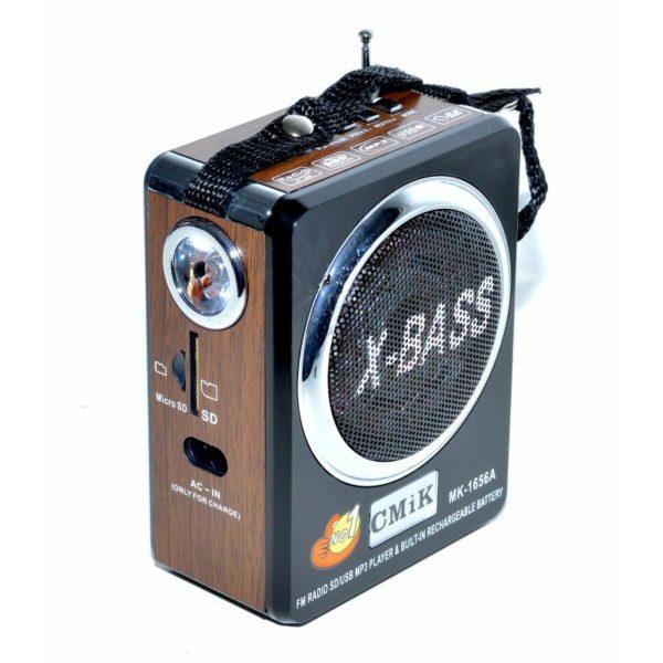 radio fm cu usb card sd micro aux si lanterna mk 1656