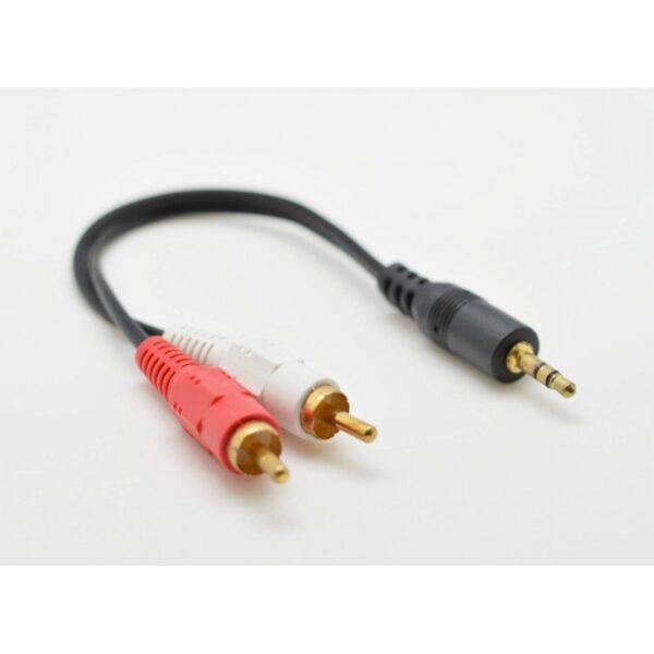 cablu audio jac 35mm tata 2 rca tata 15cm