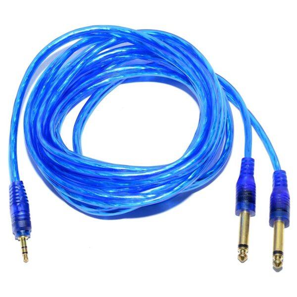 cablu jac 35 tata stereo 2 jac 63 tata mono siliconat 3m prof