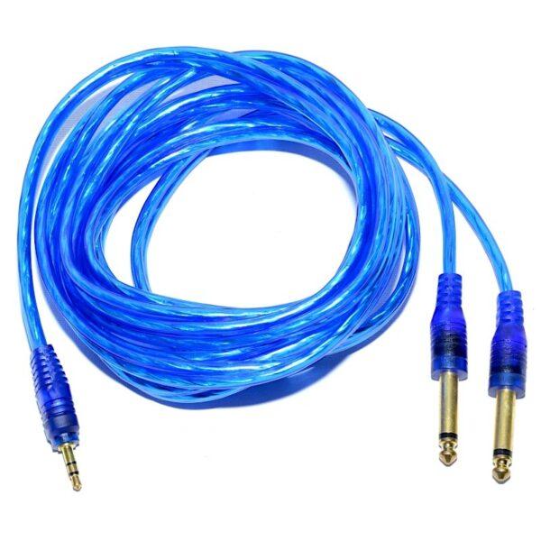cablu jac 35 tata stereo 2 jac 63 tata mono siliconat 5m prof