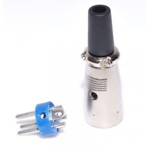 mufa conector xlr cannon tata pe fir xlr 302t 2