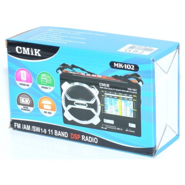 radio mini portabil mp3radio fmamsw 11 band aux lanterna mk 102 2