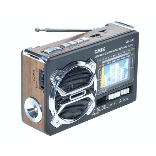 radio mini portabil mp3radio fmamsw 11 band aux lanterna mk 102 3