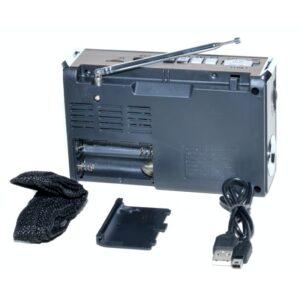radio mini portabil mp3radio fmamsw 11 band aux lanterna mk 105 1