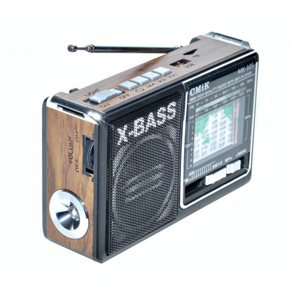 radio mini portabil mp3radio fmamsw 11 band aux lanterna mk 105