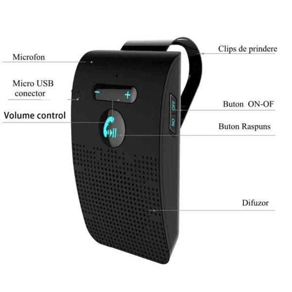 sistem auto handsfree bluetooth v 50 edr multipoint bt sp09