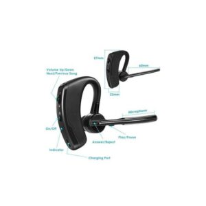 casca wireless v8 bluetooth sunet hd negru 4