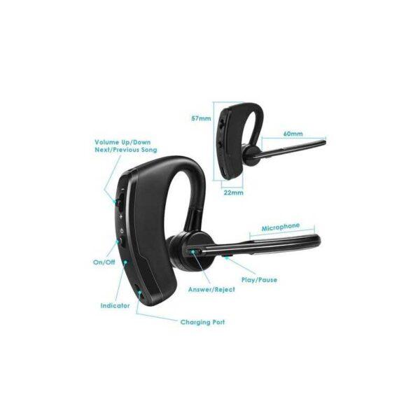 casca wireless v8 bluetooth sunet hd negru 4